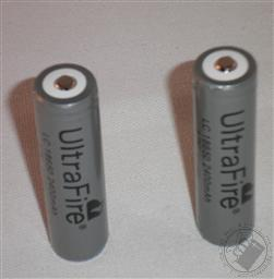 2-Pack 18650 Rechargeable Lithium-Ion Batteries (Li-Ion Battery For use with UltraFire Flashlights sold by Loving Truth Books and Gifts),UltraFire