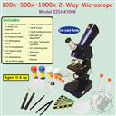 Discovery Planet Two-Way Die-Cast Microscope Set (100x, 300x, 1000x Zoom),Discovery Planet