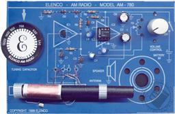 Two IC AM Radio Kit with Training Course (Model AM-780K Electronic Experiment Kit - Requires Soldering),Elenco Electronics