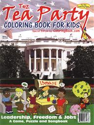 Educational Coloring and Activity Book: The TEA Party Coloring Book for Kids,Really Big Coloring Books