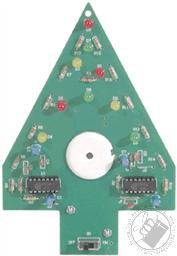 Christmas Tree Kit (Model K-14 Electronic Experiment Kit - Requires Soldering),Elenco Electronics
