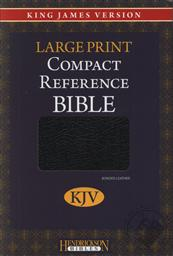 KJV Large Print Compact Reference Bible (King James Version) (Bonded Leather),Hendrickson