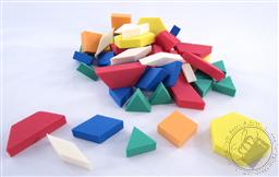 Set: 50 Soft Pattern Block Foam Shapes/ Geometric Shapes (Colors Vary),Loving Truth Books & Gifts