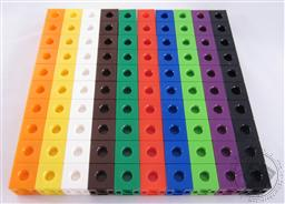 Set: 100 Linking Cubes / Linking Colorful Counters / Hands-on Math Counting Cubes (10 colors - Small Parts, Not for children under 3),Loving Truth Books & Gifts