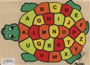 Learn My ABCs Turtle Puzzle (Learn Upper and Lower Case Alphabet Puzzle) Ages 3 and Up (Puzzle/ Wooden),Puzzled Inc