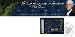 The War for American Independence Timeline (Full Color Poster 13-3/4 x 39