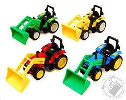Diecast Pullback Action Farm Scoop Tractor Truck (Colors Vary),Shing Fat Ltd.