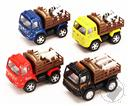 Farm Animal Truck With Cows And Pullback Action Diecast Yellow,Kinsfun