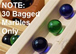 Bag of Marbles for The Original Blocks and Marbles (Ages 4 and Up) (30 Marbles),Tedco