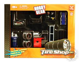 Tire Shop Hobby Grade Diorama Accessory Set (Scale 1:24) (Die Cast Accessories),Phoenix Toys
