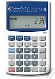 Calculated Industries Kitchen Calc Recipe Calculator with Digital Timer,Calculated Industries