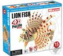 Lion Fish 4D Puzzle with Realistic Detail (26 Pieces for Ages 6 and Up) (Biology Model),4D Master