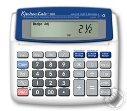 Calculated Industries Kitchen Calc Pro Master Chef's Edition Calulator (Professional Recipe Conversion with Dual Timers),Calculated Industries