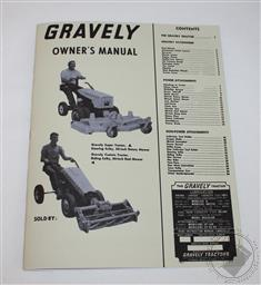 Gravely Tractor Owners/ Operators Manual, Super/ Custom Convertible 6.6HP,Gravely