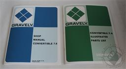 Gravely 7.6 Convertible Shop/ Service Manual & Illustrated Parts List, Set of 2,Gravely