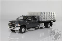 1:64 Dually Drivers Series 6 - 2018 Ram 3500 Dually Stake Truck - Granite Crystal Metallic Clearcoat (AVAILIBLE NOV-DEC 2020),Greenlight Collectibles