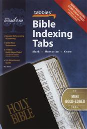 Mini Gold Bible Indexing Tabs fo any Bible, Best Fit for Bibles 7 inches or smaller (Bible Reference Tabs),Tabbies