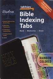 Standard Rainbow Bible Indexing Tabs for any Size Bible (Bible Reference Tabs),Tabbies